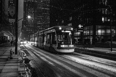 Untitled (Howard Yang Photography) Tags: snow streetcar toronto kingstreet winter sonyrx1r bw blackandwhite