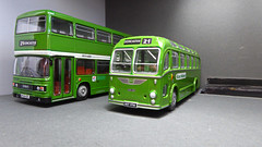 East Midland Imports. (ManOfYorkshire) Tags: bristol crosville bristolmw leyland olympian nbc national eastmidland bus buses 176 scale model models oogauge garage diorama scratchbuilt modified detailed nbcgreen loan borrowed