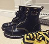 Ouch (Emma Gibbs) Tags: ifttt instagram drmartens docmartens dms boots cappers yellow black shoes socks