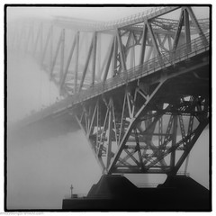Runcorn Bridge in the Mist (4 of 4) (andyyoung37) Tags: railwaybridge runcornbridge uk widnes cheshire fog rivermersey england unitedkingdom gb