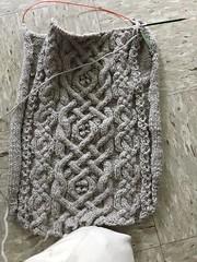 Ashwood Back Progress (hannah8ball) Tags: ashwood knitty 2017 knitting cables bulky handknit