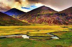 View from Lagheidi Pass, Trollaskagi Peninsula, Iceland (klauslang99) Tags: nature naturalworld europe iceland klauslang lagheidi pass trollaskagi peninsula landscape valley mountains
