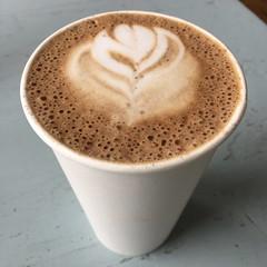 Pleasant City Petals (supernova9) Tags: mtpleasant mi michigan petals flower coffeecup cup white square bubbles brew 2017 iphone iphone6splus january pleasantcitycoffee coffee