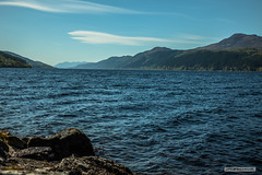 "Looking south-west down Loch Ness from the south shore. (Scotland by NJC.) Tags: lochness scotland lakes lochs reservoirs waters meres tarns ponds pool lagoon lago 湖 jezero sø meer järvi lac see λίμνη 호수 innsjø jezioro озеро mountains hills highlands peaks fells massif pinnacle ben munro heights جَبَلٌ montanha 山 planina hora bjerg berg montaña vuori montagne βουνό montagna fjell forest woodland plantation trees grove ""temperate rainforest"" غَابَة floresta 森林 šuma les skov bos ""bosque grande"" metsä forêt wald"