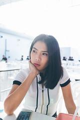 IMG_6754 (Doraople) Tags: bangkok girl thailand portrait sky bicycle eosm3 22mm canon outdoor woman