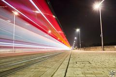 Tron (PaaulDvD) Tags: tours loire city loirevalley light night blue hour center tram longexposure