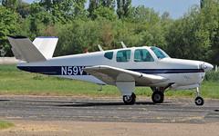 N59VT Beech K35 Bonanza (PlanecrazyUK) Tags: fly in sturgate 070615 egcv n59vt beechk35bonanza