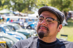 David (Eric Arnold Photography) Tags: show california ca portrait people man david guy car vw volkswagen glasses hipster dude mexican event hip mustache pinto californa