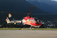 The Flying Bulls Bo-105 at Innsbruck (Daniel Rinner) Tags: redbull flyingbulls bo105 dhtdm flughafeninnsbruck flyingbullsbo105 flyingbullsheli
