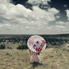 save the sun (pixiebat) Tags: portrait sky selfportrait newmexico santafe macro nature girl naked nude landscape pretty alone artistic outdoor fineart naturallight parasol conceptual selfie brenizer zeiss50mm selfiesquared 5dmkii brenizermethod pixiebat martimills
