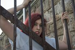 Brenna Maura 3 (scottnj) Tags: fashion female hospital model glamour bars models cell redhead medical prison asylum esp prisoner easternstatepenitentiary fashionmodel hospitalgown scottnj scottodonnellphotography brennamaura