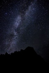 The sky might be vast, but would it be able to contain what our hearts hold? (M Yasir B.) Tags: mountain silhouette night forest stars heaven surreal angels astrophotography serene nightsky magical juniper milkyway starstudded balochistan ziarat