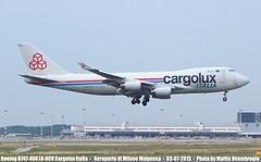 Boeing B747-400 Cargolux Italia LX-RCV (MattiaDeambrogio) Tags: milan airplane airport italia milano air aeroporto cargo 400 boeing