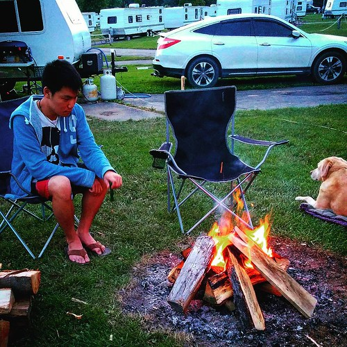You know that guy that can never stop poking the fire? Yeah, that guy... 😜 #camping #upstateny #darienlake #glamping