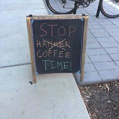 Stop - Coffee Time (htomren) Tags: signs philadelphia coffee chalkboard phonepics joecoffee