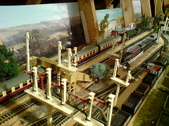 Double heading at Shepton Mallet (Fanatical about Odeon) Tags: model railway somerset double dorset mallet heading shepton