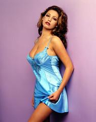 B4R8HX (milkcocoa1980) Tags: 2000s entertainment actresses models presenter television pouting portrait studio nightwear sexy negligee lingerie lace