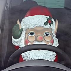 Driving Home for Christmas (Finding Chris) Tags: chrisrea drivinghomeforchristmas fatherchristmas santaclaus beard steeringwheel