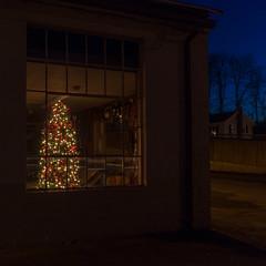 School bus garage shop (coneslayer) Tags: buildings christmas christmastree garage holidays plants sigma1020mmf456exdc storagebuildings trees summerhill pennsylvania unitedstates