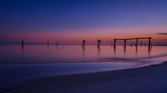 Convenient Amnesia (fuzzy_dunlop_nola) Tags: gulfcoast gulfofmexico fuji landscape water gulfportmississippi blue gulfport longexposure mississippi waterscape xt2 fujifilm fujinon beach sand colorful vivid colors mirrorless shore coast evening waterfront thebluehour shoreline fujifilmxt2 azure vista nightfall nature view vantage 14mm wideangle dim ndfilter bw110 nd bw 10stop scape neutraldensity pilings fishingpier bwfilter neutraldensityfilter fujixf14mmf28r sunset sunlight outdoors dusk bluehour