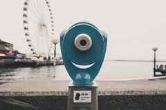 |LOOK CLOSELY| (jacobgalbreath) Tags: greatwheel ferriswheel telescope usa pugetsound water pikeplace washington pnw seattle