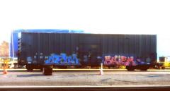 celm - skizm (timetomakethepasta) Tags: celm skizm ktc moms htk 2dx aok tarmac boxcar art freight train graffiti albany new york
