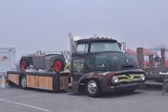 Mooneyes X-Mas Party 2016 (USautos98) Tags: 1955 ford c600 coe cabover hotrod streetrod custom rockabilly truck