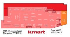 Charleston, WV Kmart (4th Ave) Map (Random Retail) Tags: kmart store retail map storelayout charleston wv