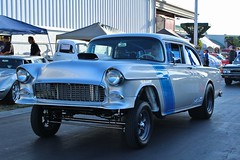 17th Annual Cruisin' for a Cure (USautos98) Tags: 1955 chevrolet chevy 150 gasser hotrod streetrod custom