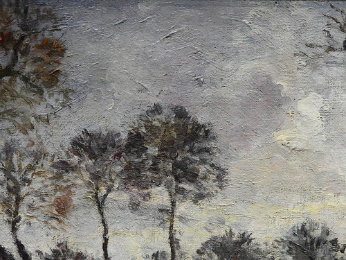 PISSARRO Camille,1870 - Diligence à Louveciennes (Orsay) - Detail 19