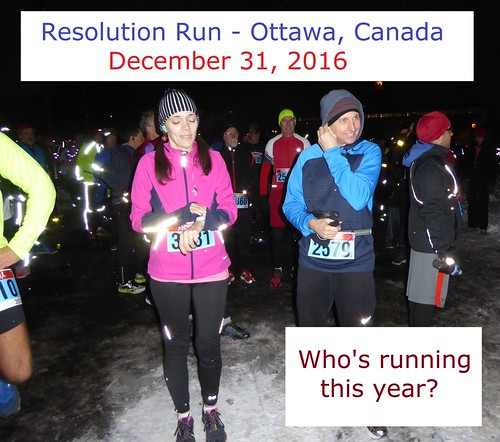 Who is running the Resolution Run, in Ottawa, on December 31, 2016?