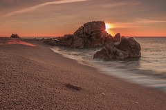Golden star (eztopo79) Tags: sea seascape beach playa platja sant pol mar barcelona mediterranean mediterrani rocks sun sunrise canon catalonia catalunya tokina formatt hitech maresme