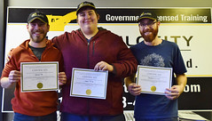 Deniz A, Jake S and Shane G (High Velocity Equipment Training) Tags: hvet highvelocityequipmenttraining camrose equipment heavyequipment heavyequipmentoperators operators equipmentoperator graduation grads happy tattoo certificates heo