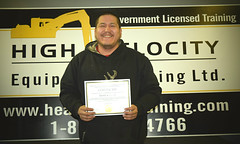 Darrell O (High Velocity Equipment Training) Tags: hvet highvelocityequipmenttraining camrose equipment heavyequipment heavyequipmentoperators operators equipmentoperator graduation certificate lisenced aboriginal aboriginalstudent firstnations