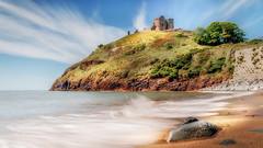 History lives ... (Einir Wyn Leigh) Tags: history bay castle wales beauty shore beach ocean water longexposure gwynedd seascape ancient criccieth uk britain outdoor love penninsula sky colour light rocks