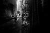 Graffiti Laneway (Jon Cartledge) Tags: stickerbomb stickers life epson rd1s minolta mrokkor 28mm street oof out focus laneway graffiti graf melbs melbourne bw black white couple classic rangefinder rf rd1 afternoon union lane laneways dof depth field