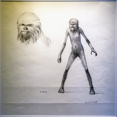 Chewbacca Concept Art (JohnnyJangles) Tags: starwarsidentities starwars chewbacca conceptart sketch drawing wookiee chewie