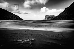 The giant and the witch from Tjornuvik - Faroe Islands (@PAkDocK / www.pakdock.com) Tags: 2016 faroe landscape pakdock travel sea nature beach island clouds cloudscape ocean black white grass sand seascape witch bnw islands panoramic blackandwhite outdoors landmark longexposure giant adventure voigtlander wanderlust tjornuvik seashore blanco y negro long exposure hoya filter sonya6000 monochrome outdoor cinematic