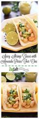 Spicy Shrimp Tacos W (alaridesign) Tags: spicy shrimp tacos with avocado puree for one