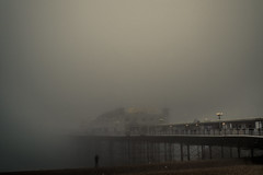 Brighton Pier Disappears in to the Fog. (thegrolffalo) Tags: pier fog weather sea architecture brighton sussex beach