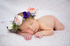 Florence Elizabeth (Jemma (on and off for a while)) Tags: newborn baby oneweekold new flowercrown boho flowers crown photoshoot portrait soft gentle fluffy girl pink pregnancy pretty special photography child innocent girlie female feminine glow tiny delicious cute natural light