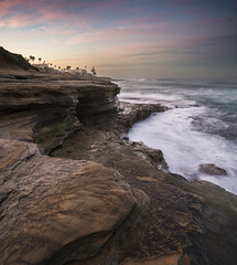 san diego : la jolla (William Dunigan) Tags: san diego la jolla cove southern california shore shoreline seascape coast coastal waves morning early sunrise dawn color cloud sky