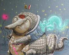 how to annoy a firefly (Pixeljuice23) Tags: graffiti alligator mainz firefly friendlyfire pixeljuice