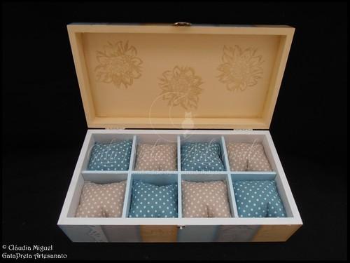 """Caixa para bijuteria e caixa para 8 relógios """"Shabby Paris"""""""