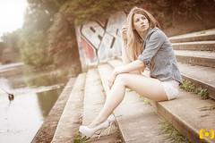 another model shot (Stefan Lorse) Tags: summer sun sexy girl beauty photoshop germany deutschland model shot availablelight sommer saxony noflash leipzig sachsen shooting frau sonne mädchen canonef50mmf14usm schön hübsch canoneos50d