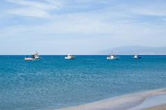 Four Boats (goodbyetrouble) Tags: blue sea espaa de four boat spain cabo meer mediterranean boote gata blau andalusia andalusien almeria spanien golfo mittelmeer fischerboote