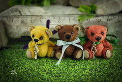 3,5cm mini mix (Zhanna Zolotina) Tags: bear miniature teddy handmade ooak tiny dollhouse miniature112