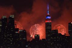 4th fireworks NYC (EZ Photoz) Tags: nyc newyorkcity usa night photography newjersey nikon fireworks nj iso midtown empirestatebuilding edzirkle weehawkentownship