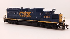 CSX - MOTHER (Road Slug Power Unit) #6457 Dark Future Paint Scheme (Prototype Painted around April 2010) - GP40-2 (Engineers Side) - HO Scale - Atlas - July 29, 2015 - K. Crawley (dcmkris) Tags: atlas csx hoscale gp402 custompainted darkfuture roadslug mothermate