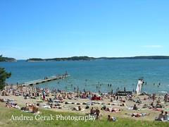 Summer at Arsta Havsbad, Sweden (AndreaGerak) Tags: travel sea summer beach sweden stockholm places sverige scandinavia rsta havsbad